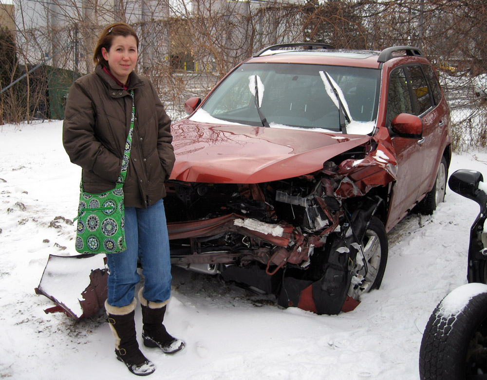 Carey's Subaru Forester Totaled