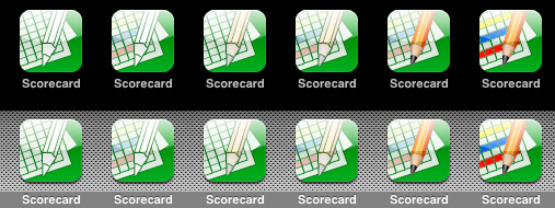 Scorecard iPhone Icons