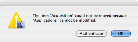 Bad Authenticate Dialog