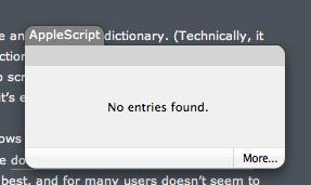 Dictionary Applescript Lookup