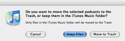 iTunes Deleted Files