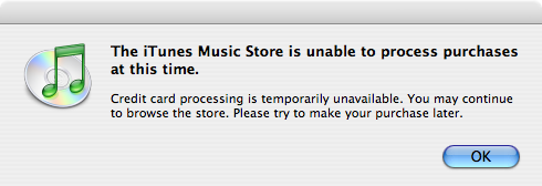 iTunes Unable