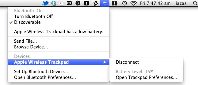 Magic Trackpad Battery