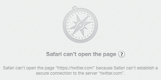 Twitter, Safari, and Mavericks
