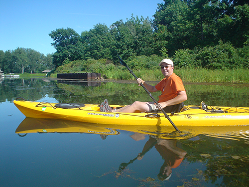 Erik Kayaking