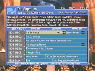 DirecTV TiVo Guide