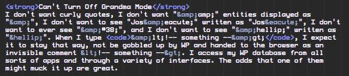 Wp Screwed Up HTML